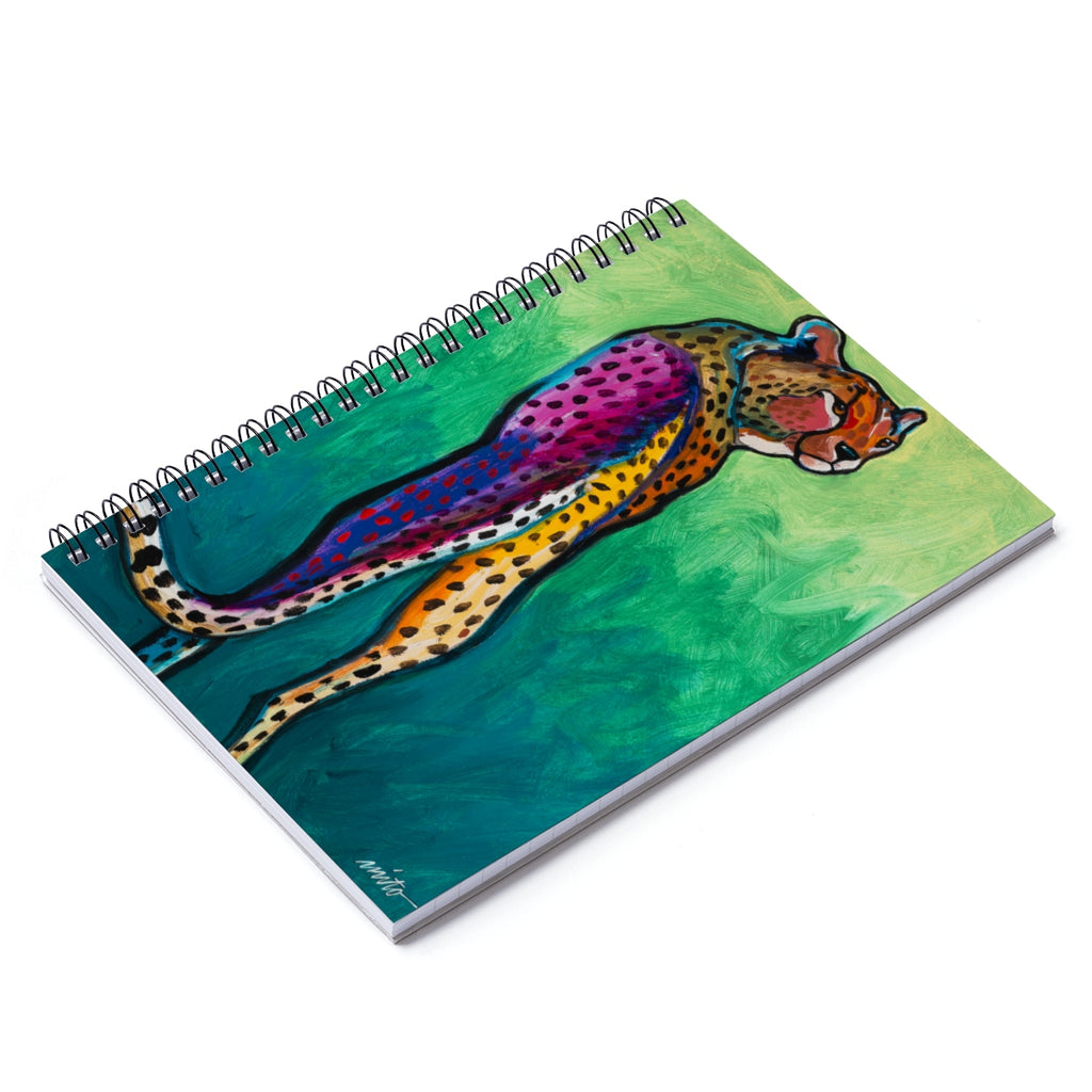 Cheetah Spiral Notebook - Ruled Line