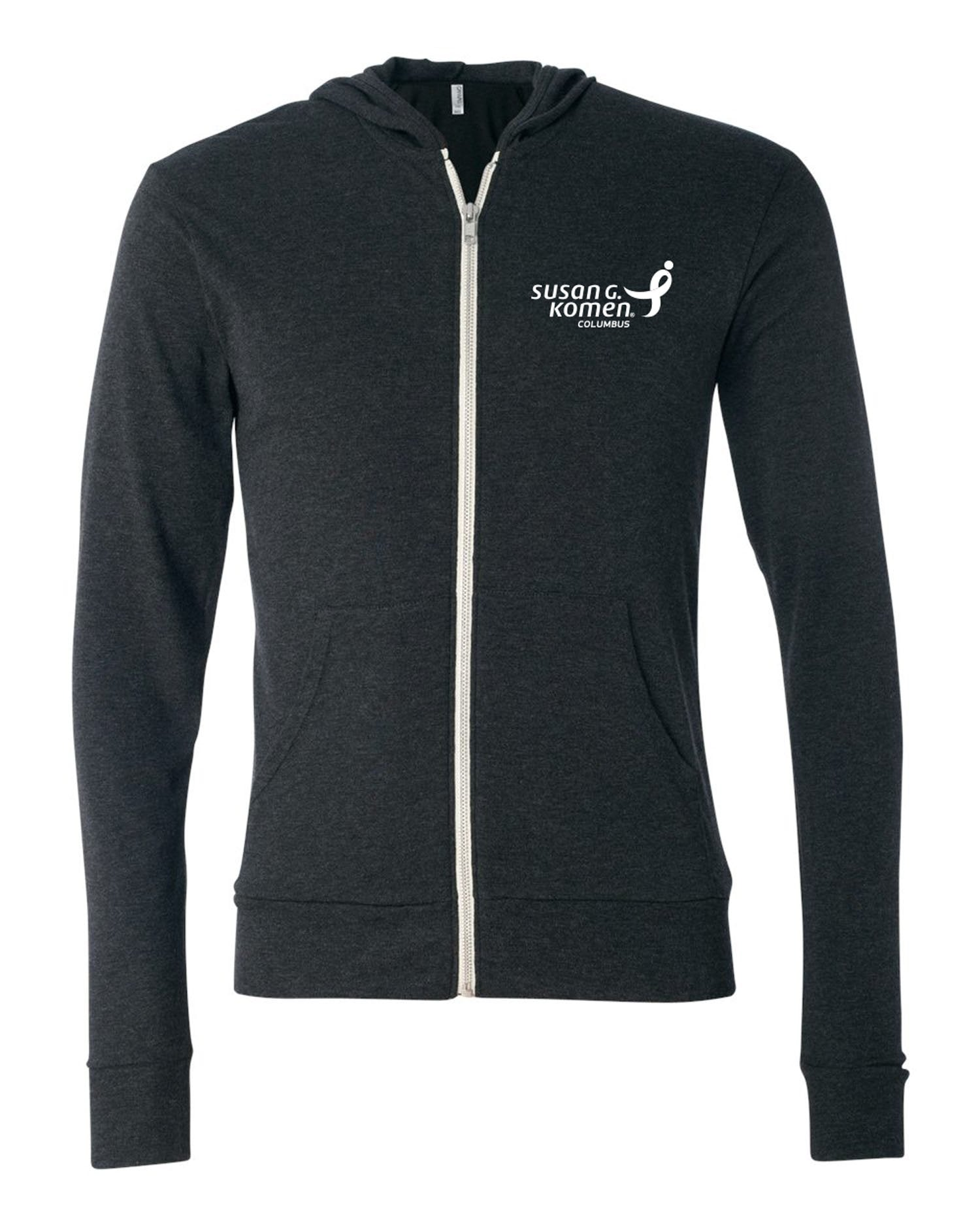 Lightweight Hooded Full-Zip, Susan G. Komen Logo