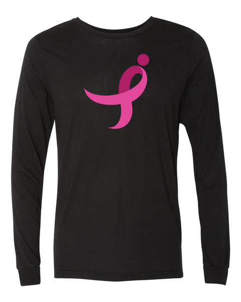 Long Sleeve Unisex Tee, Pink Ribbon