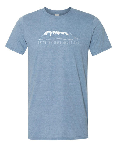 Short Sleeve Heather Indigo Tee - Faith
