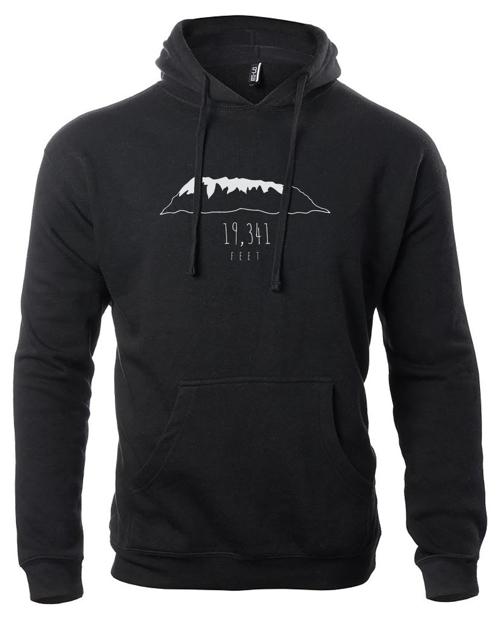 Premium Fleece Black Unisex Hoodie - Feet