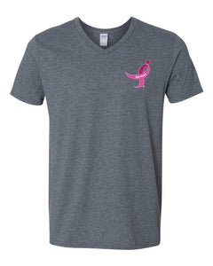 Softstyle V-Neck, Survivor Ribbon