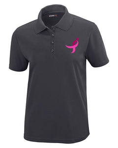 Ladies Performance Polo, Pink Ribbon