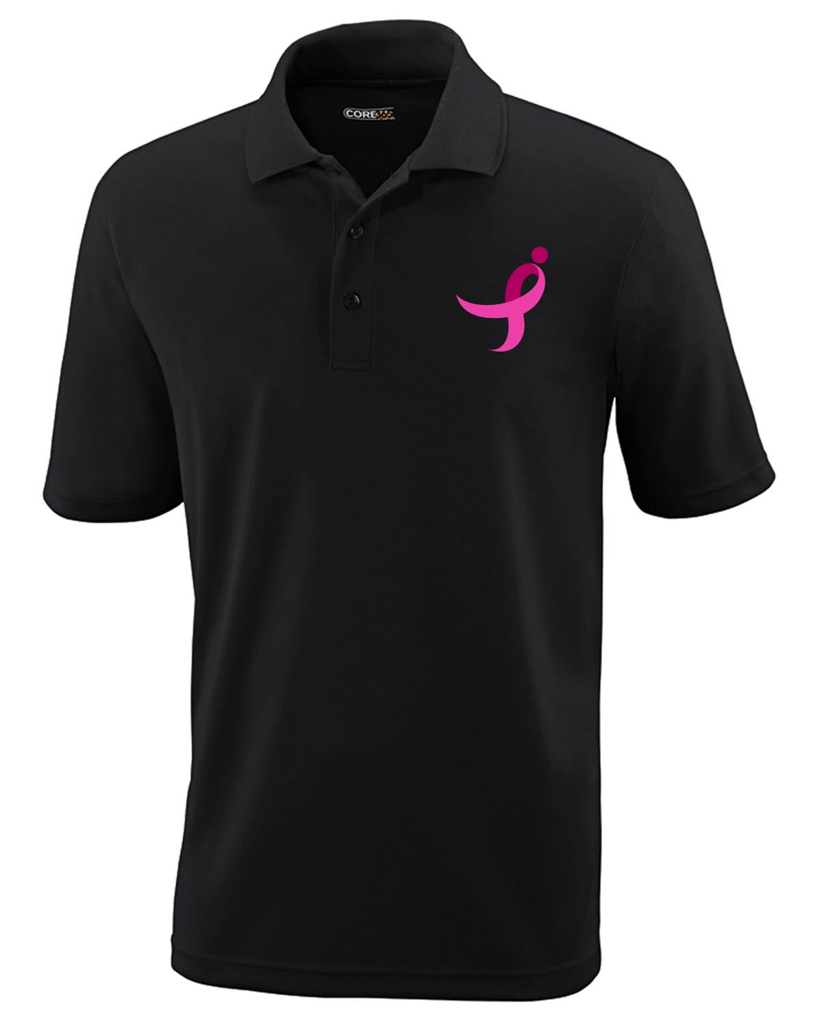 Men's Performance Polo, Pink Ribbon