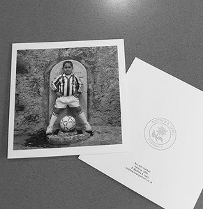 Boy With Football - Greetings Card