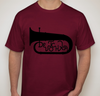 Apparel: DeVotchKa Men's Cranberry Tuba T