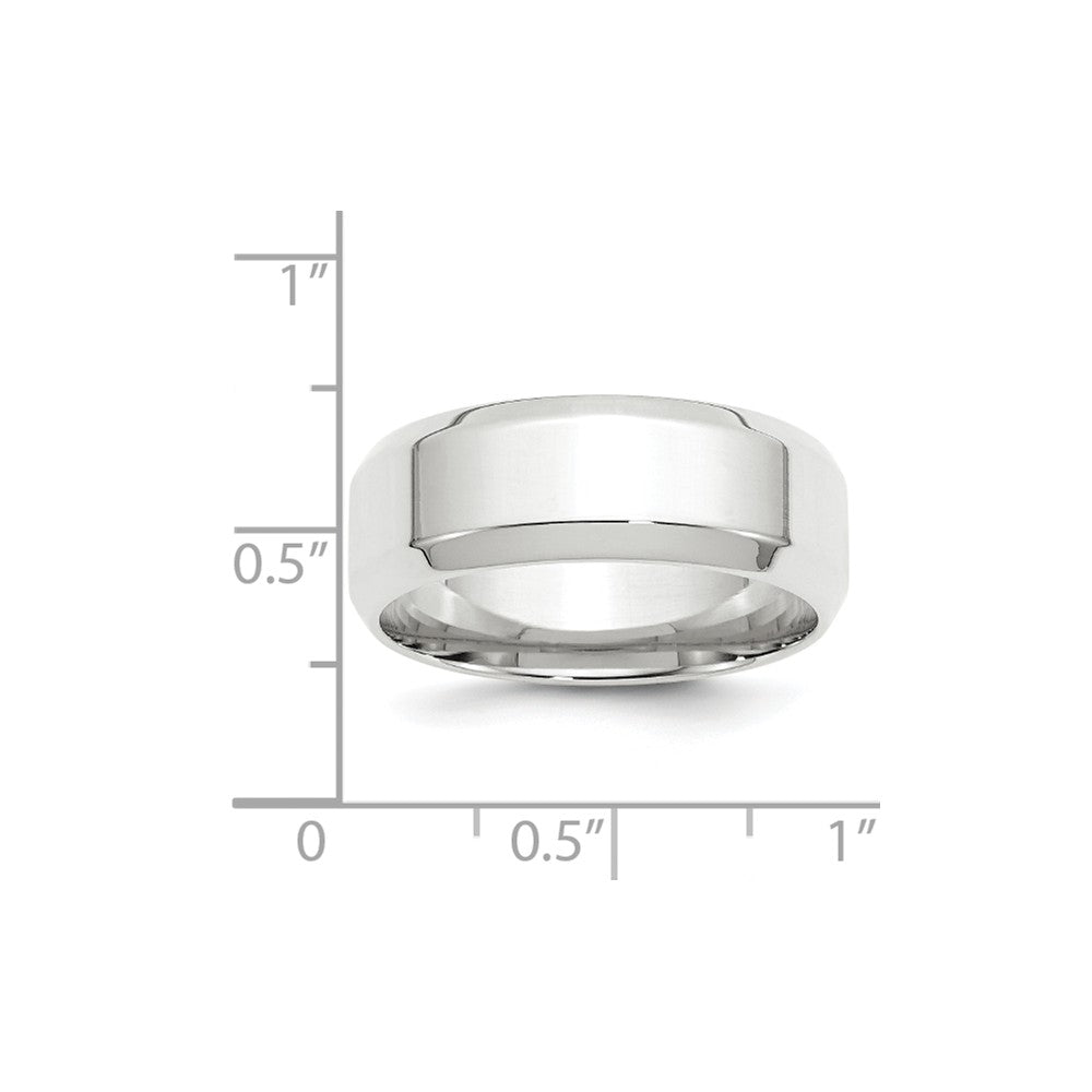 Luxury Diamonds Vancouver 8mm Beveled Edge Comfort Fit Wedding Ring Band For Men