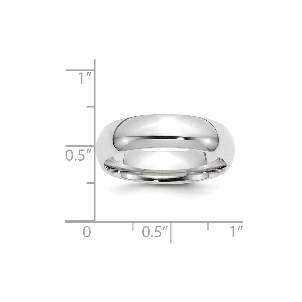 Luxury Diamonds Vancouver 6mm Band Width Comfort Fit Wedding Ring Band For Men
