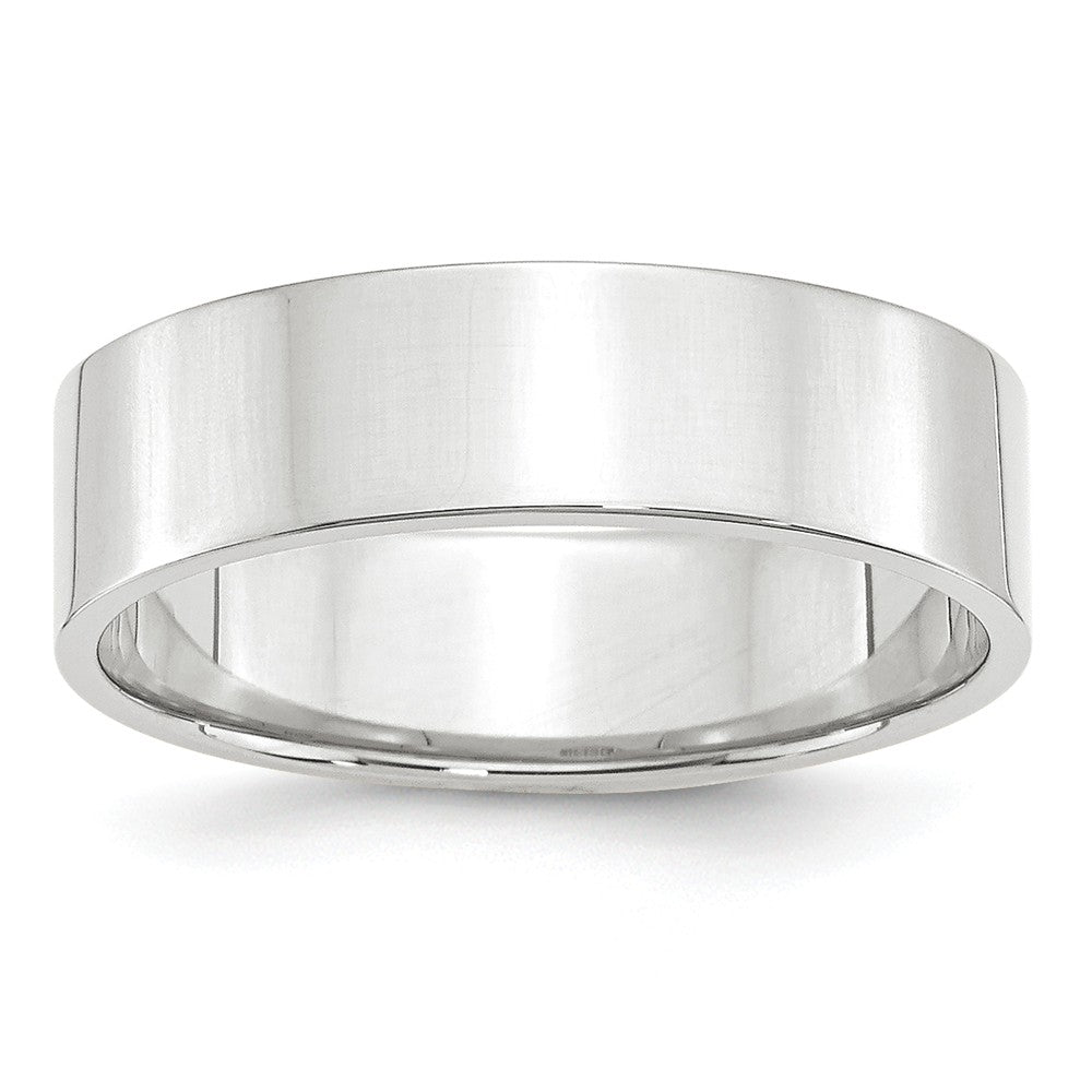 Luxury Diamonds Vancouver 6mm Flat Lightweight Wedding Ring Band For Men