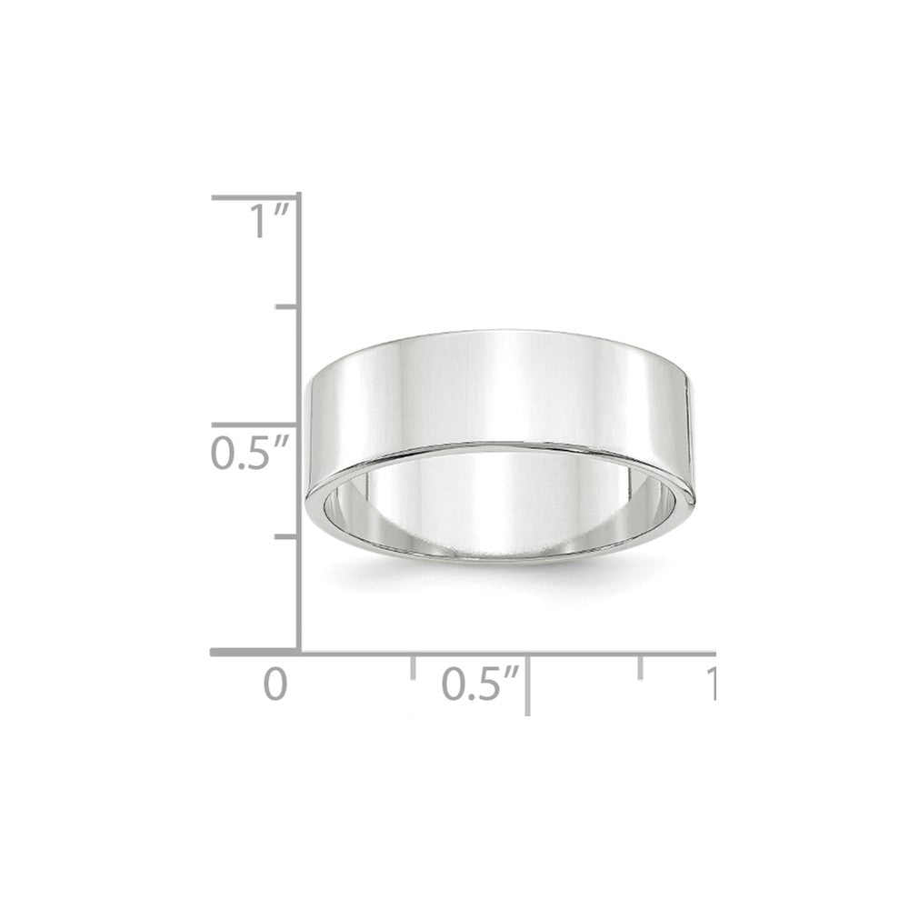 Luxury Diamonds Vancouver 7mm Flat Lightweight Wedding Ring Band For Men