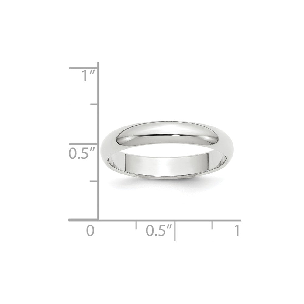 Luxury Diamonds Vancouver 4mm Half Round Wedding Ring Band For Men