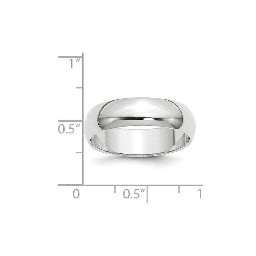 Luxury Diamonds Vancouver 6mm Half   Round Wedding Ring Band For Men