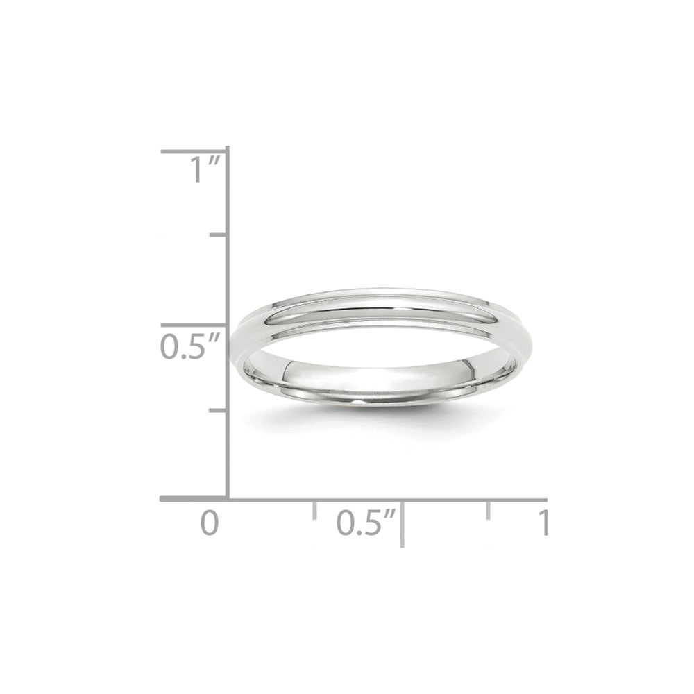 Luxury Diamonds Vancouver 3mm Half Round With Edge Wedding Ring Band For   Men