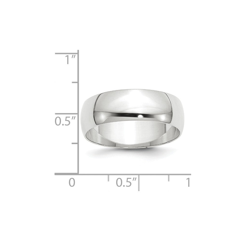 Luxury Diamonds Vancouver 7mm Half Round Lightweight Wedding Ring Band For Men