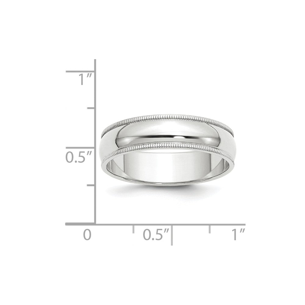 Luxury Diamonds Vancouver 6mm Half Round Milgrain Wedding Ring Band For Men