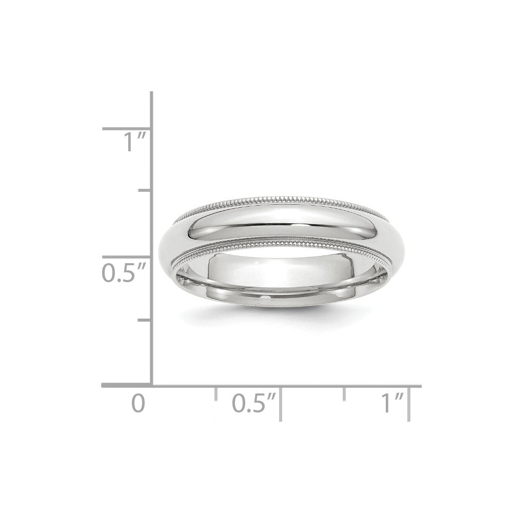 Luxury Diamonds Vancouver 5mm Half Round Milgrain Comfort Fit Wedding Ring Band For Men