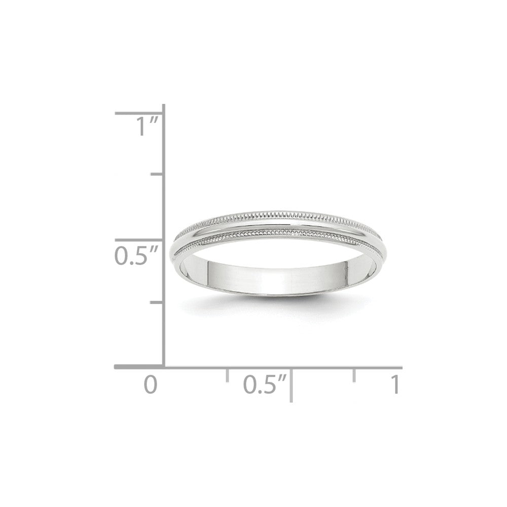 Luxury Diamonds Vancouver 3mm Half Round Milgrain Lightweight Wedding Ring Band For Men