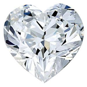 0.66 Carat Heart Diamond I Color VS1 Clarity