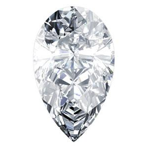 0.57 Carat Pear Diamond F Color VVS1 Clarity