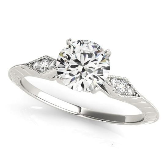 Luxury Diamonds Vancouver Antique Vintage Style Diamond Engagement Ring