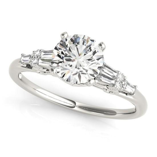Luxury Diamonds Vancouver Baguette Unique Fancy Shape Diamond Engagement Ring