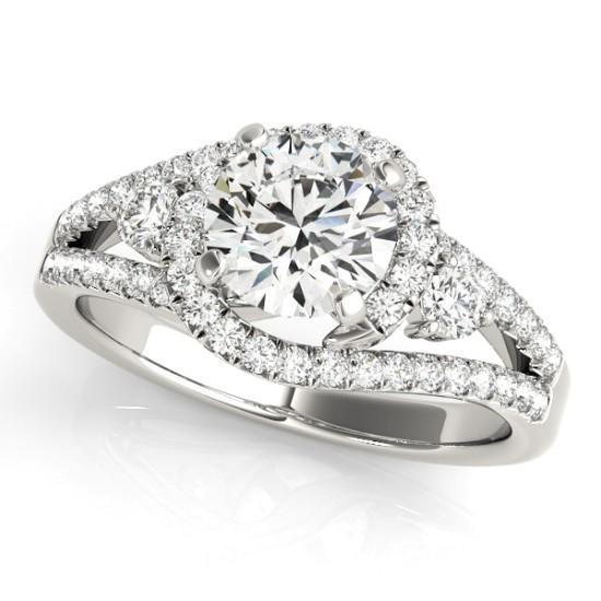 Luxury Diamonds Vancouver Bypass Diamond Engagement Ring
