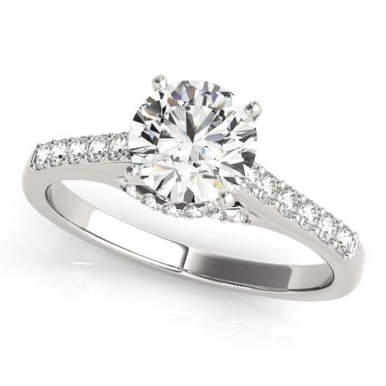 Luxury Diamonds Vancouver Channel Set Diamond Engagement Ring With Side Stones