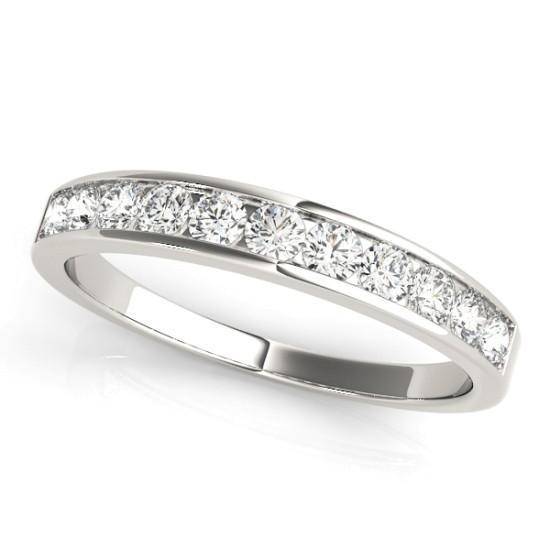 Luxury Diamonds Vancouver Channel Set Wedding Ring Band For Women