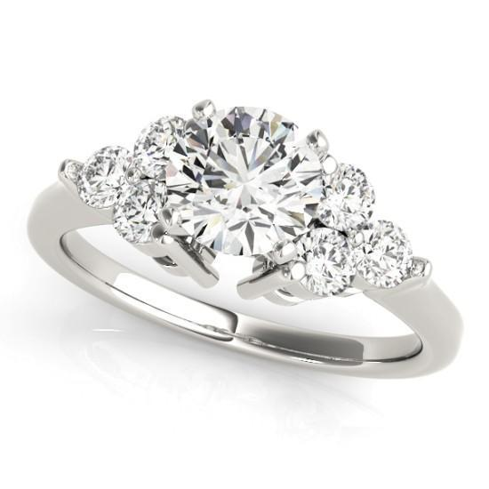 Luxury Diamonds Vancouver Cluster Diamond Engagement Ring  With Side Stones