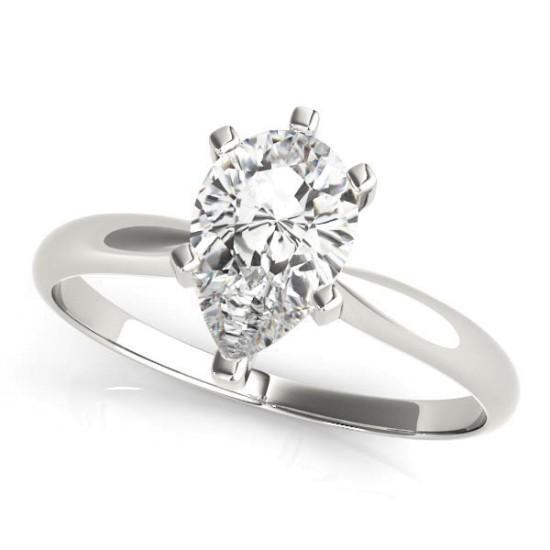 Luxury Diamonds Vancouver Die Struck Solitaire Diamond Engagement Ring
