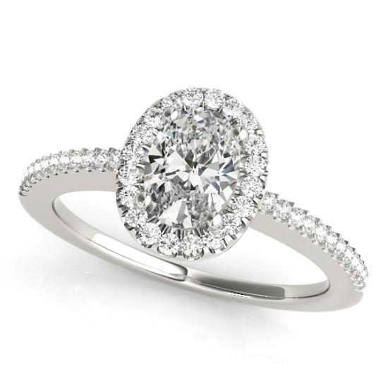 Luxury Diamonds Vancouver Oval Cut Halo Diamond Engagement Ring