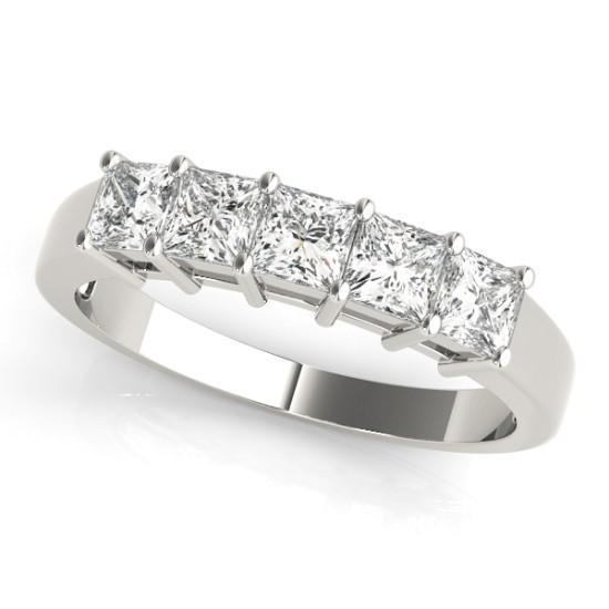 Luxury Diamonds Vancouver Princess Cut Fancy Shape Wedding Ring Band For Women