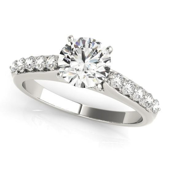 Luxury Diamonds Vancouver Prong Set Diamond Engagement Ring With Side Stones