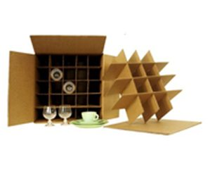 "China / Dish / Kitchen Box with 2 Sets of Dividers 18"" x 18"" x 28"" (5.2 c/f)"