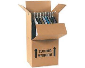 "SINGLE WALLED SHORT WARDROBE BOXES 20"" X 20"" X 34"" (7.9 C/F)"