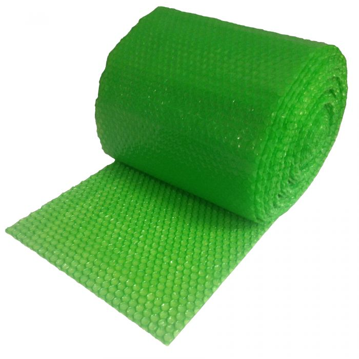 "SMALL GREEN BUBBLE WRAP 30' X 12"" WIDE"