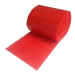"SMALL RED BUBBLE WRAP 60' X 12"" WIDE"