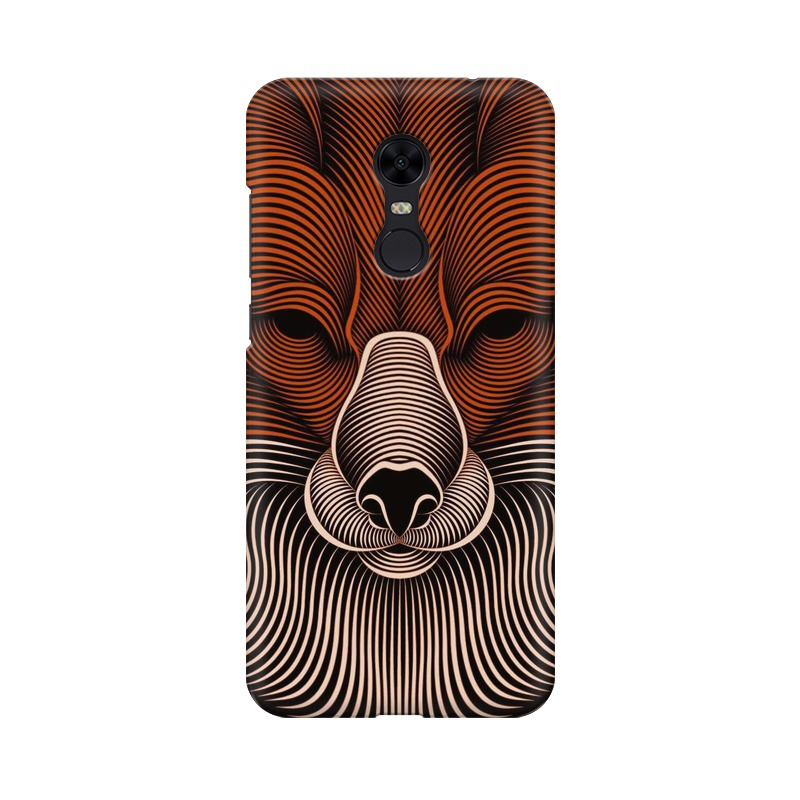 red fox xiaomi redmi note 5 mobile cover