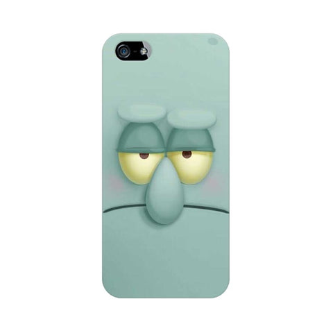 Squidward apple iphone SE mobile cover