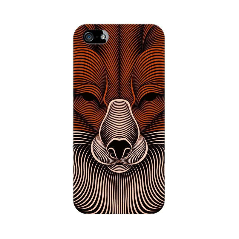 red fox apple iphone 5 mobile cover