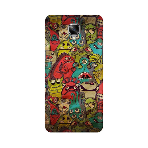 monsters jam OnePlus three mobile cover