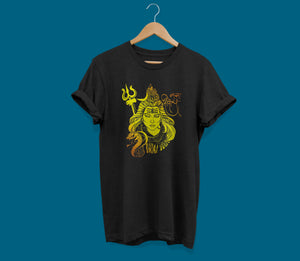 Shop now Shiva front black t-shirts graphics online