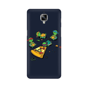 pizza time oneplus three mobile cover