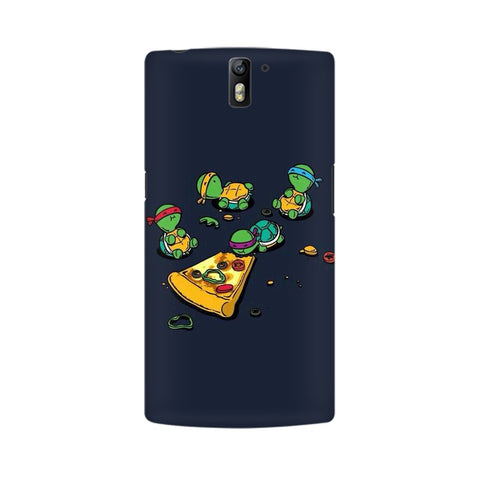 pizza time oneplus one mobile cover