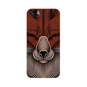 red fox apple iphone 5s mobile cover