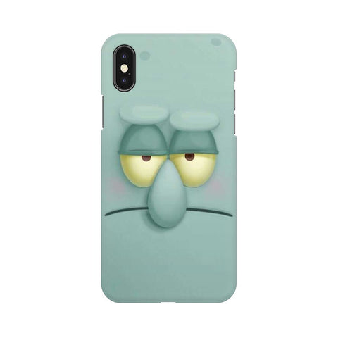 Squidward apple iphone X mobile cover