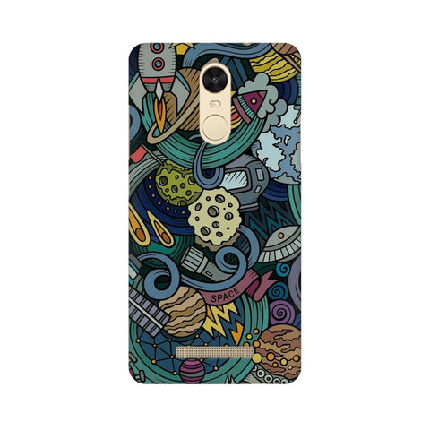 space doodle xiaomi redmi note 3 mobile cover