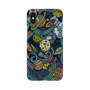 space doodle apple iphone X mobile cover