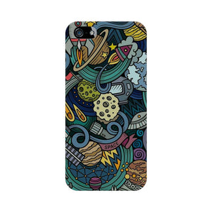 space doodle apple iphone 5s mobile cover
