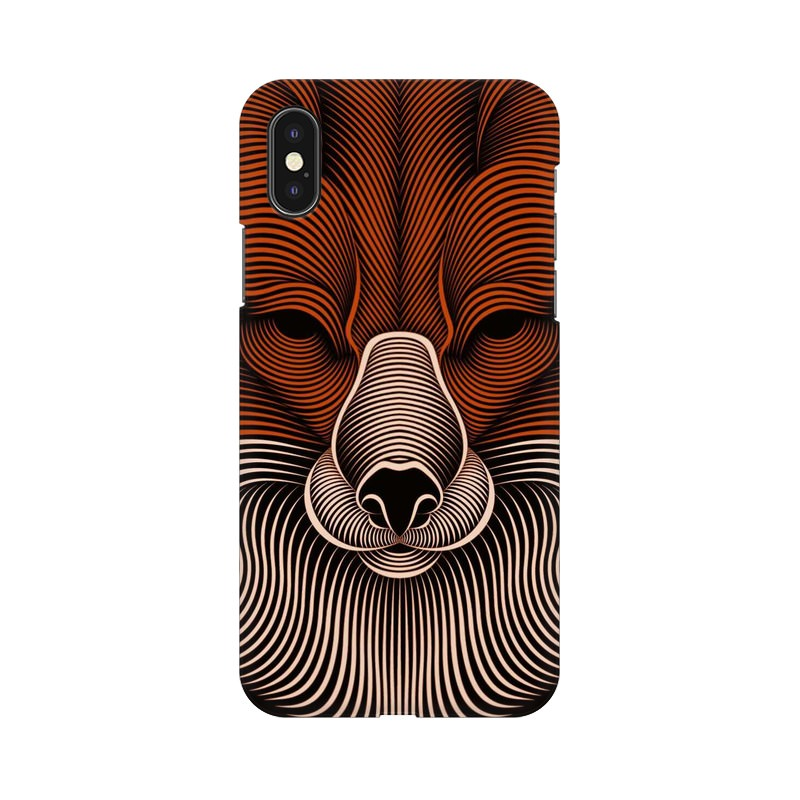 red fox apple iphone X mobile cover